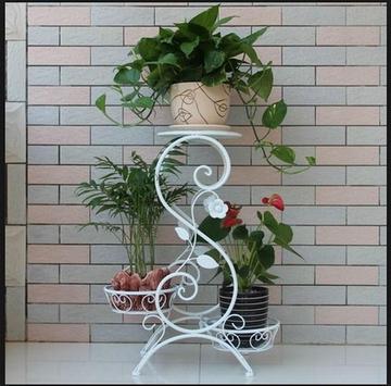 iron flower pot shelf apk screenshot