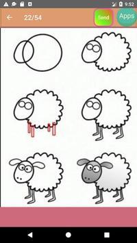 Animals Drawing Tutorials apk screenshot