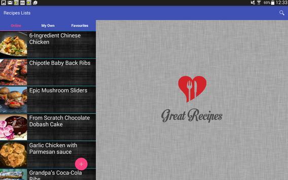 Great Recipes apk screenshot
