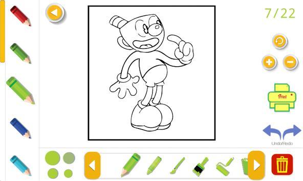 cuphead coloring book Screenshot 3