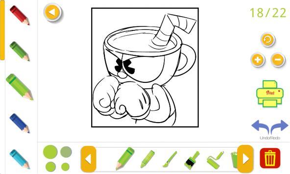 cuphead coloring book Screenshot 7