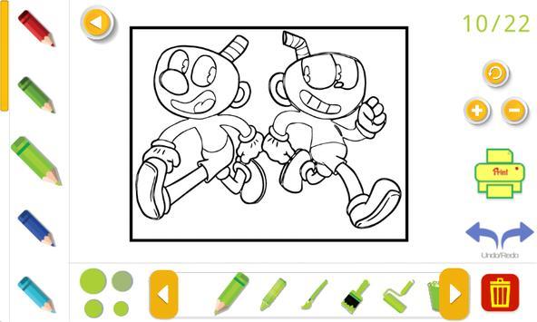 cuphead coloring book Screenshot 4