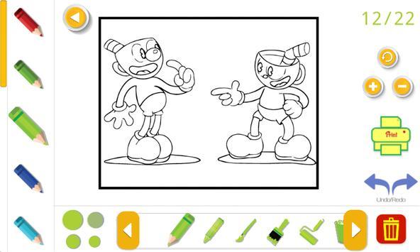 cuphead coloring book Screenshot 5