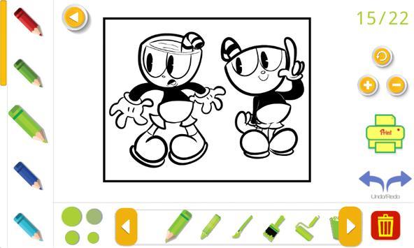 cuphead coloring book Screenshot 6