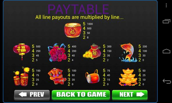 Lunar New Year Slots Machine screenshot 1