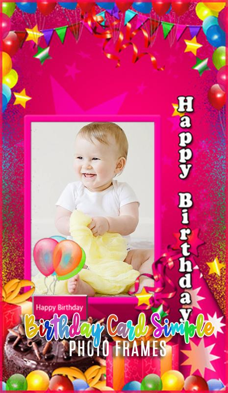 Birthday Card Simple Photo Frames For Android Apk Download