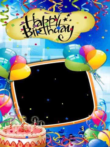 Birthday Card Photo Editor Poster