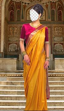 Indian Woman Saree Photo Frames screenshot 1