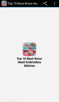 Top 10 Must-Know Hand Embroide poster