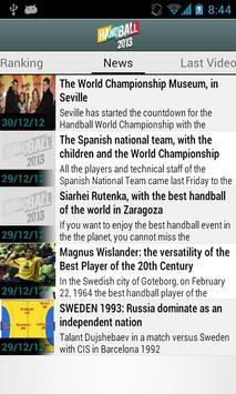 Handball 2013 IHF W C screenshot 3