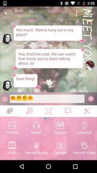 Handcent Skin (Meet you) apk screenshot