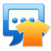 Blue sea Next SMS skin icon