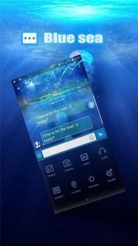 Blue sea Next SMS skin poster
