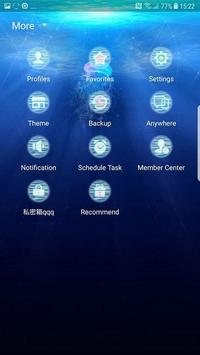 Blue sea Next SMS skin screenshot 3