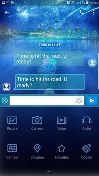 Blue sea Next SMS skin screenshot 4