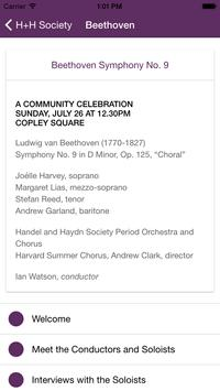 Handel and Haydn Society screenshot 1