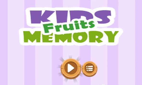 Kids Memory Fruit - Freemium Match Game poster