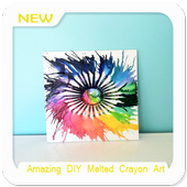 Amazing DIY Melted Crayon Art icon