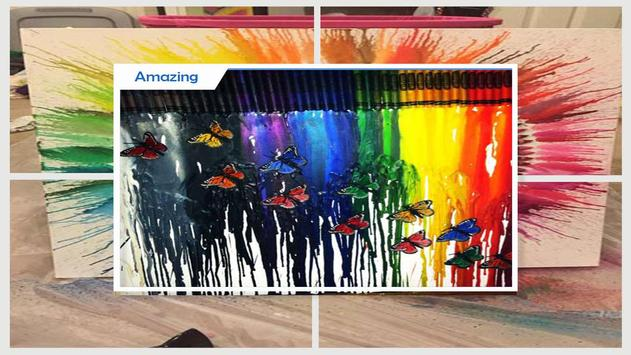 Amazing DIY Melted Crayon Art poster