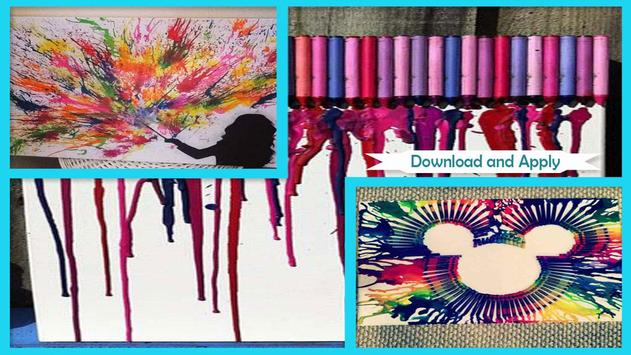 Amazing DIY Melted Crayon Art screenshot 2