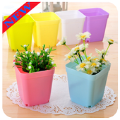 Flowers pots design icon