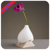 Flower vase design icon
