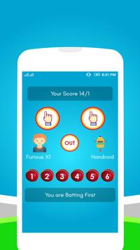 Hand Cricket Game Free apk screenshot