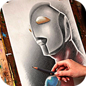 Hand Sketched Ultraman icon