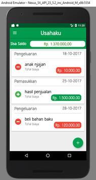 Usahaku apk screenshot