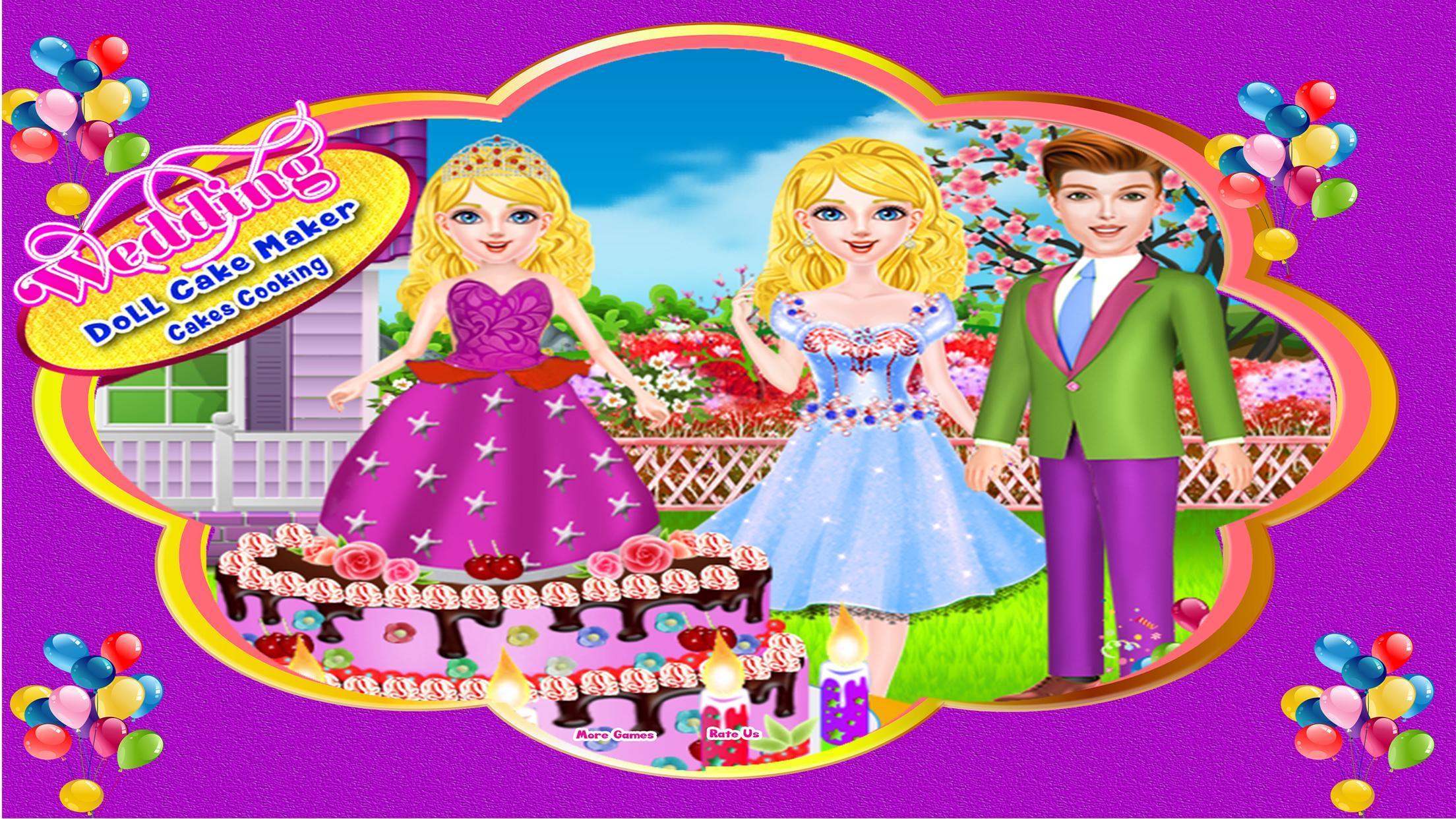 Pernikahan Boneka Kue Pembuat Kue Memasak For Android Apk Download