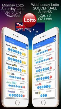 Australia Lotto Result check poster