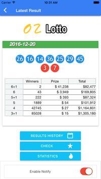 Australia Lotto Result check screenshot 2