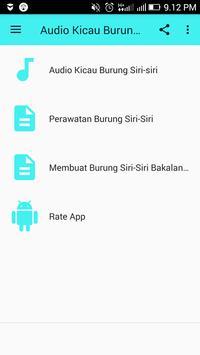 Audio Kicau Burung Siri-Siri screenshot 1