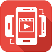 Video rotate, flip and save icon
