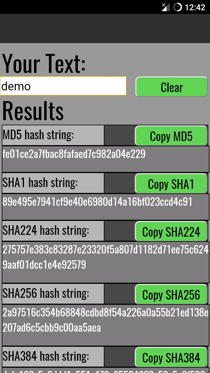 MD5 & SHAx Hash Generator for Android - APK Download