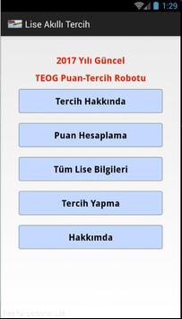 TEOG , Lise  Akıllı Tercih apk screenshot