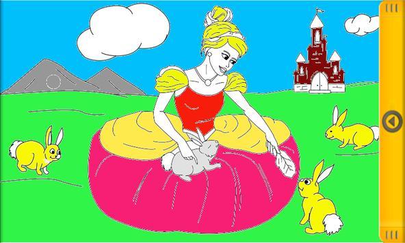 Happy Princess Coloring Book Poster Apk Screenshot