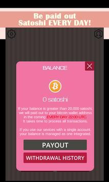 Free Bitcoin! Kitty poster