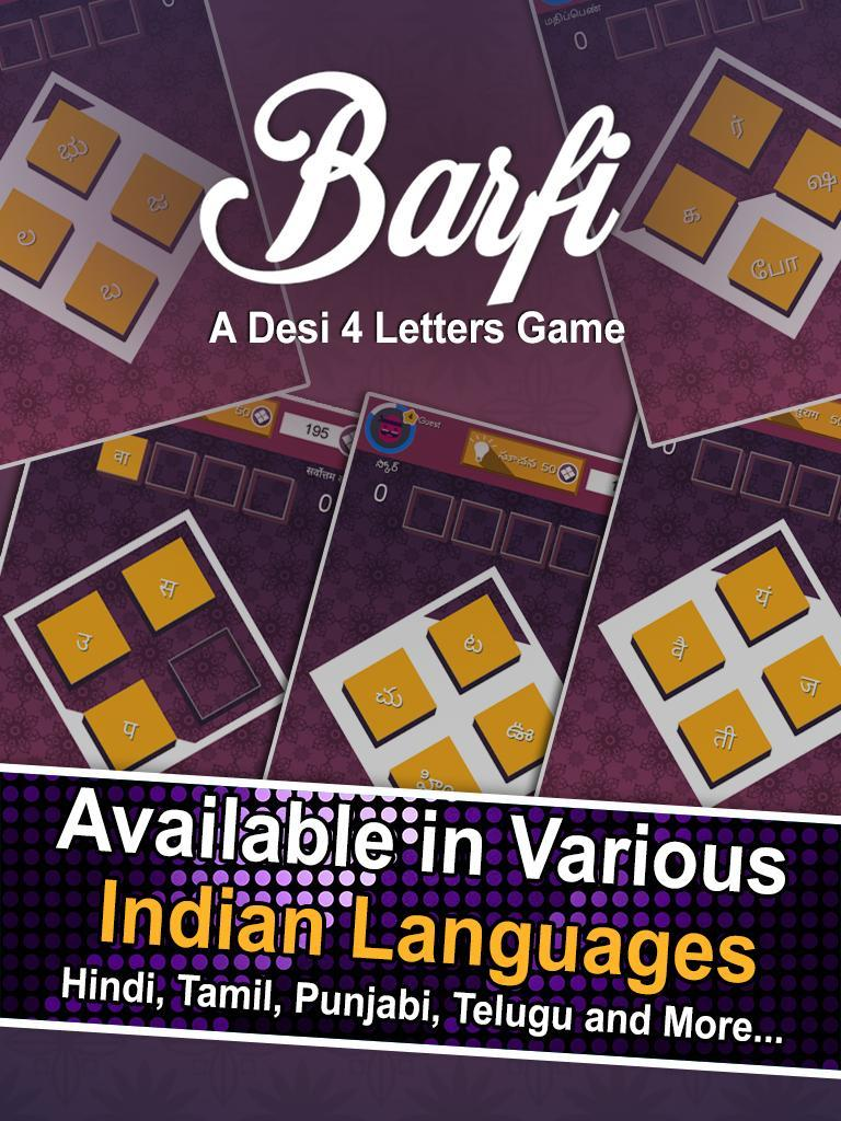 Barfi - Desi Four Letter Game for Android - APK Download