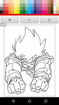 Paint Super Saiyan for kid screenshot 1