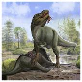 Dinosaur game puzzle icon