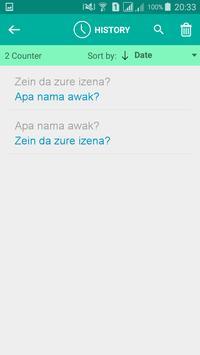 Basque Malay Translator screenshot 3
