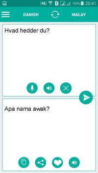 Danish Malay Translator screenshot 1