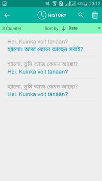 Finnish Bengali Translator screenshot 3