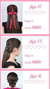 Beautiful hairstyle step by step 2018 screenshot 1