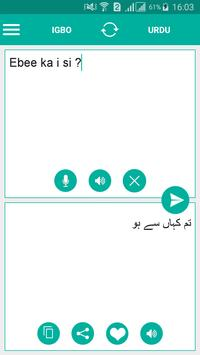 Igbo Urdu Translator poster