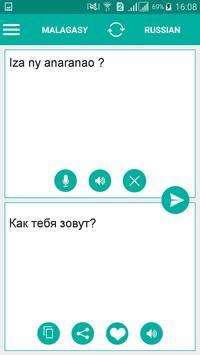 Malagasy Russian Translator poster