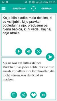 Slovenian German Translator apk screenshot