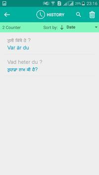 Swedish Punjabi Translator screenshot 3