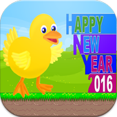 Happy Duck New Year 2016 icon